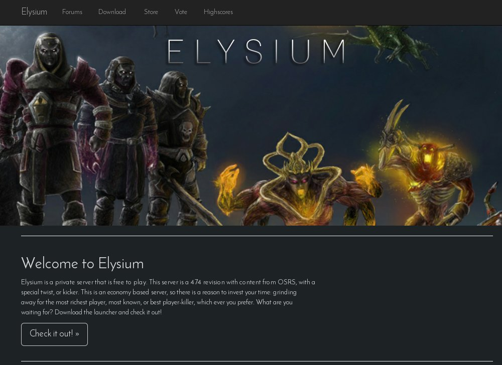 elysium rsps list runescape private servers