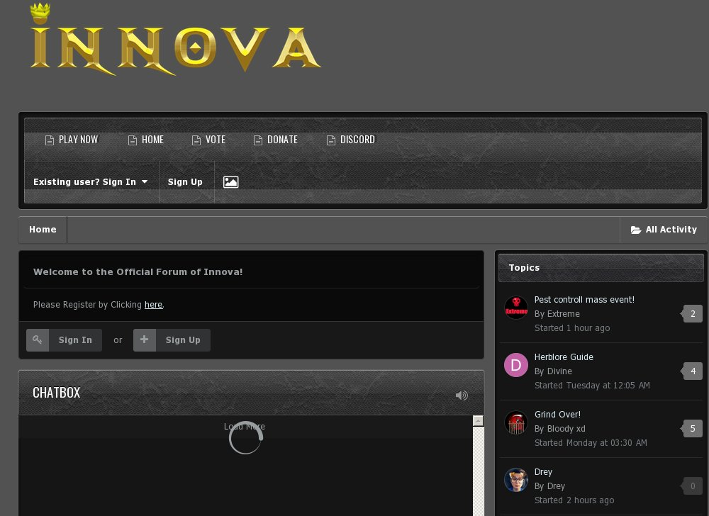 Innova - Brand New - Join Now - RSPS List - RuneScape Private