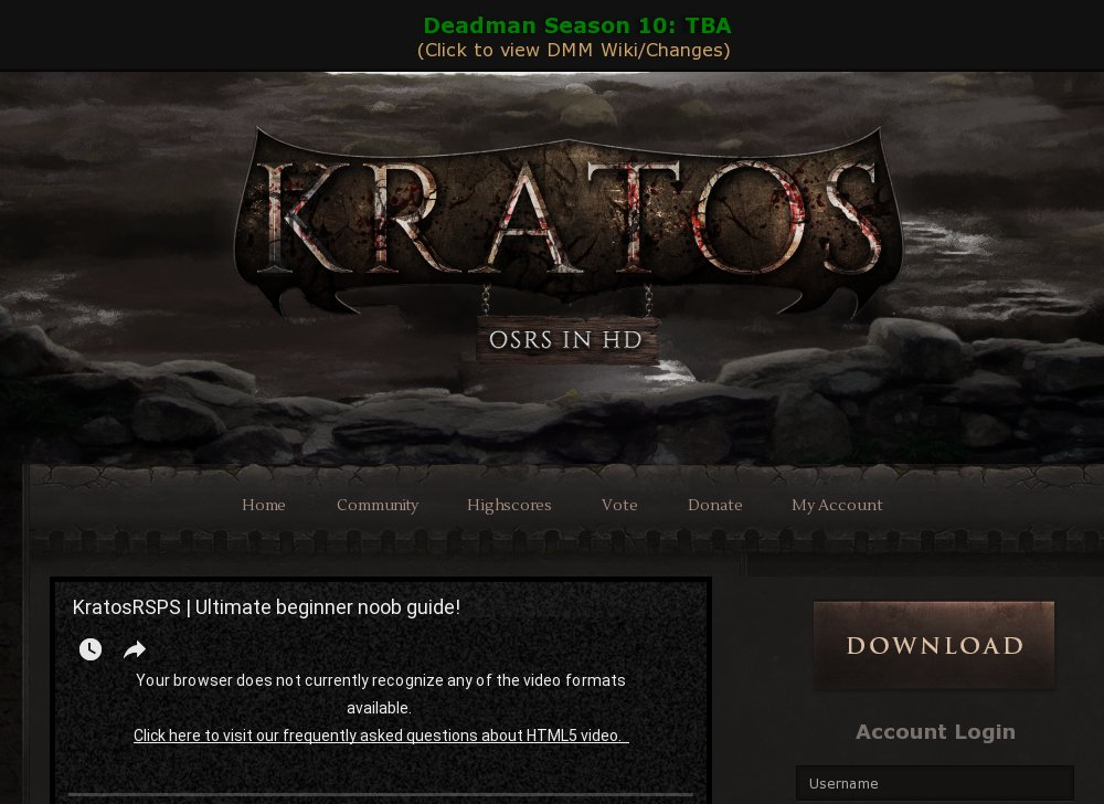Kratos Oldschool Rs In Hd 200 Online Rsps List Runescape