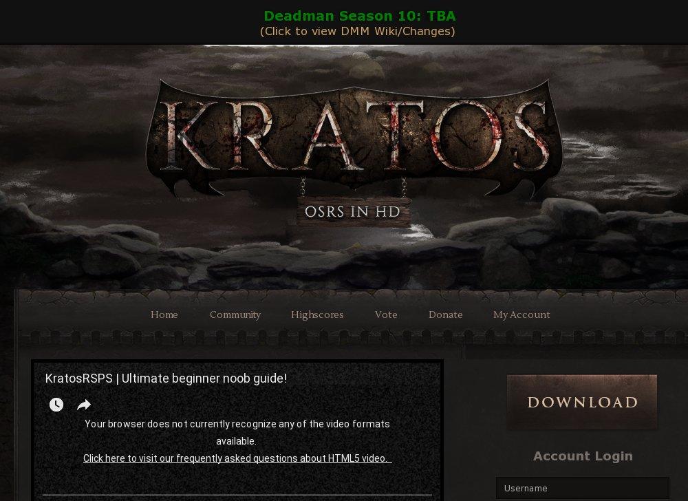 Kratos - Oldschool RS in HD - 200 Online - RSPS List