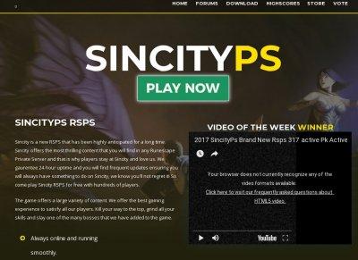 SincityPS 1 RSPS - Raids - Inferno - RSPS List - RuneScape