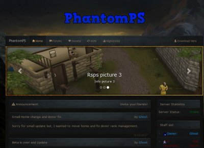 PhantomPS - RS3 and osrs mix - RSPS List - RuneScape Private