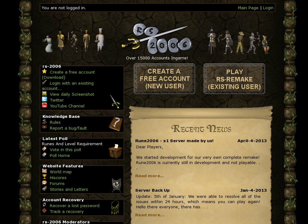 Rs 2006 Beta Rsps List Runescape Private Servers